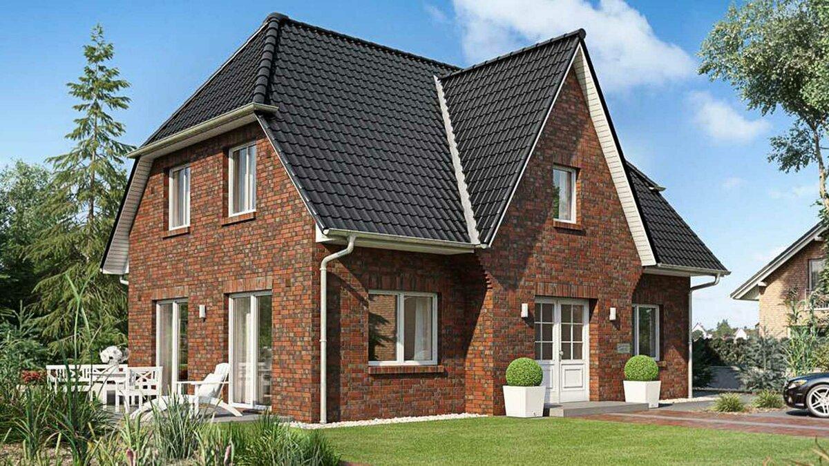 Красивые дома из кирпича с мансардой фото