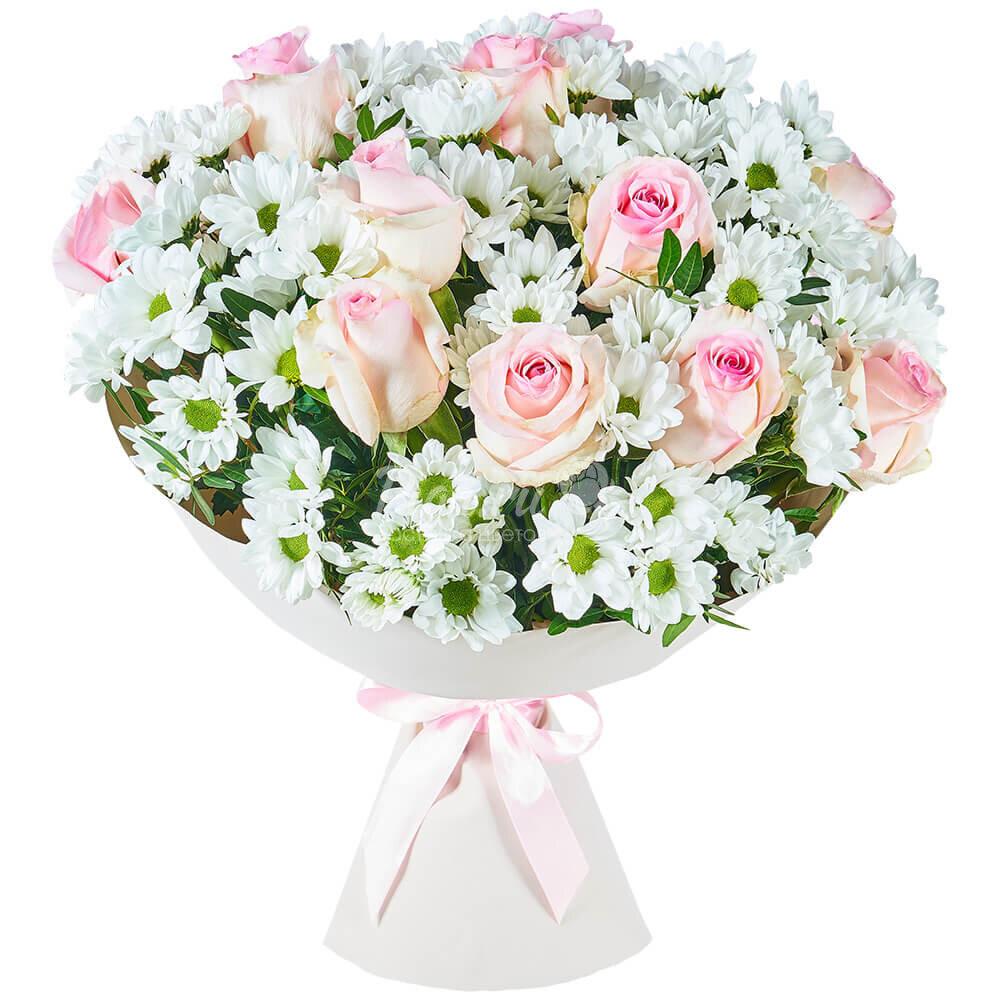 том букет из розовых роз и хризантем фото занимаюсь косплеем всего