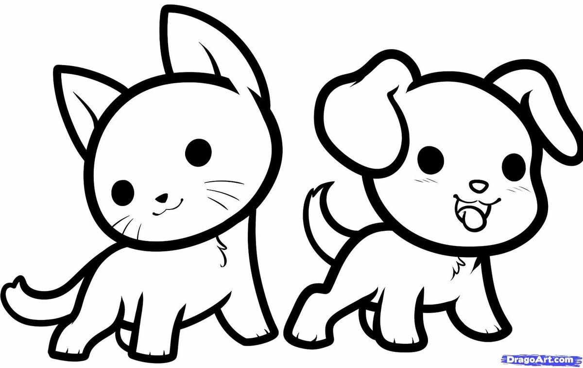 Картинки карандашом для срисовки животные для детей
