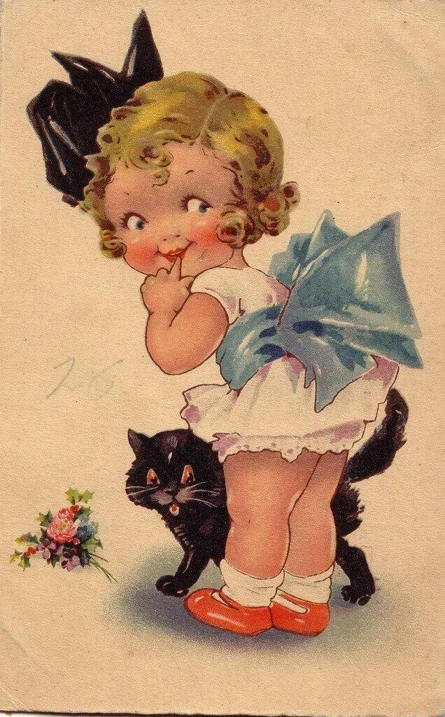 Старинные открытки про детей