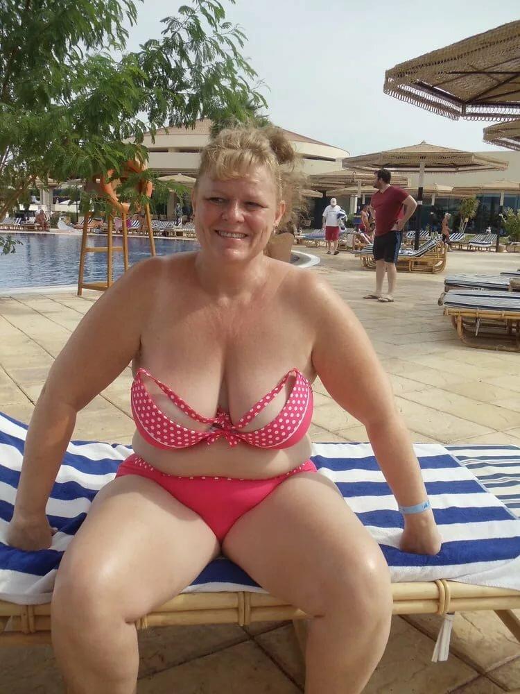 Fat mature bikini