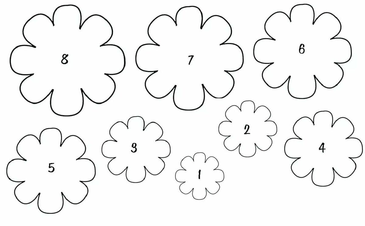 Цветки для открытки макеты