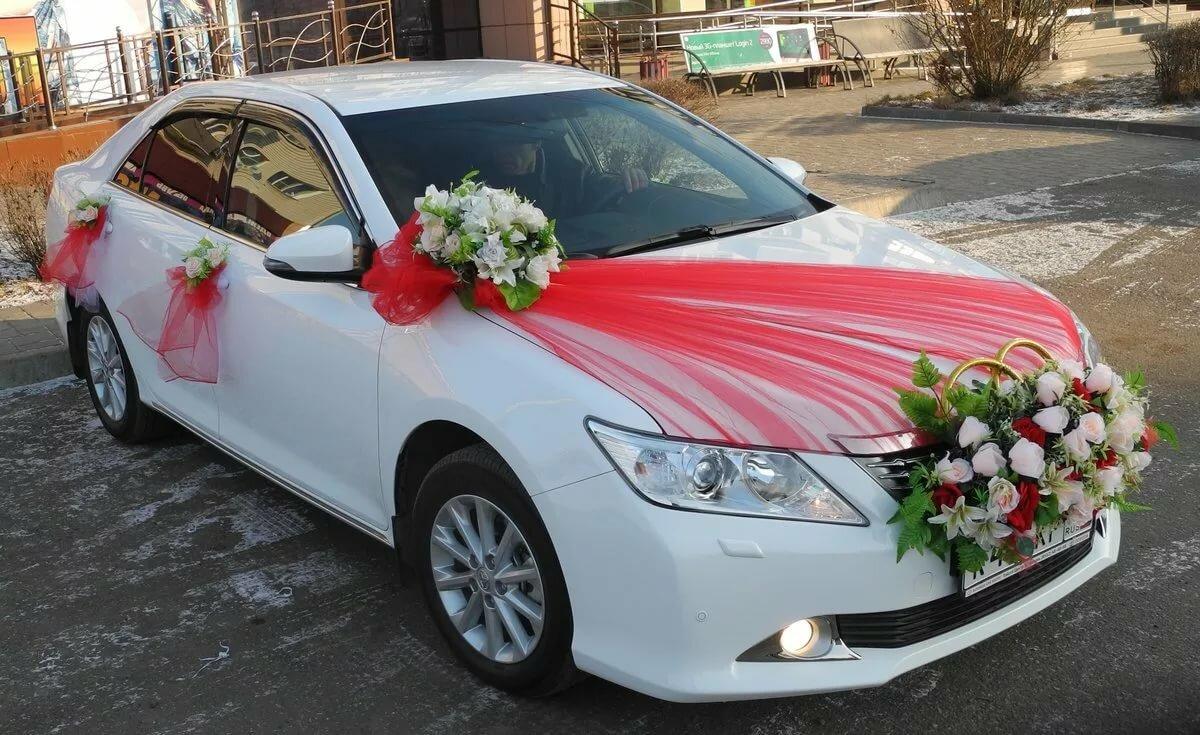 Свадебные украшенные машины фото
