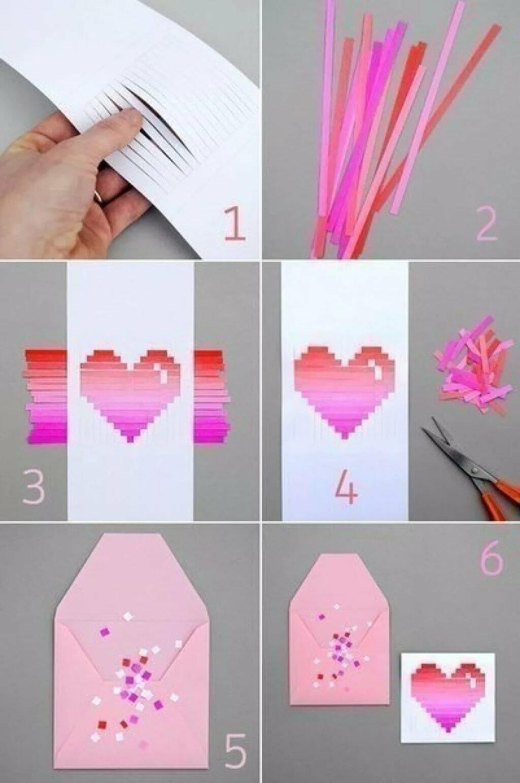 Как сделать из бумаги красивые открытки