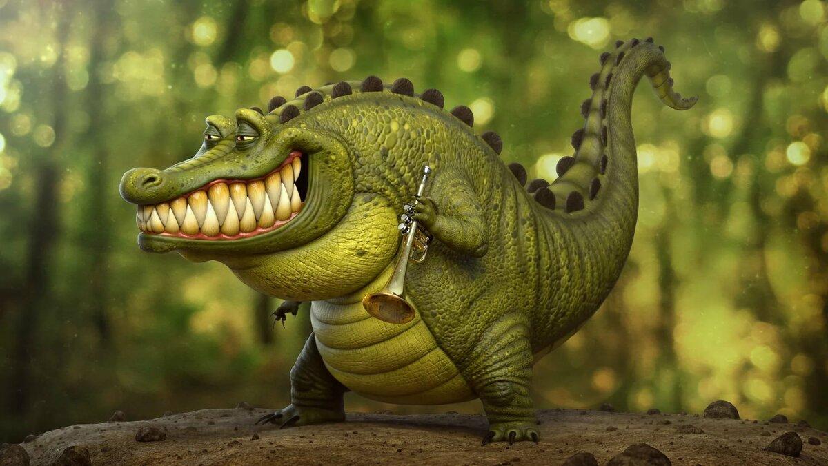 Картинка прикольного крокодила, картинки