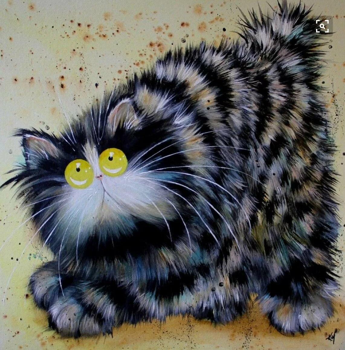 Прикольные картинки рисунки кошек