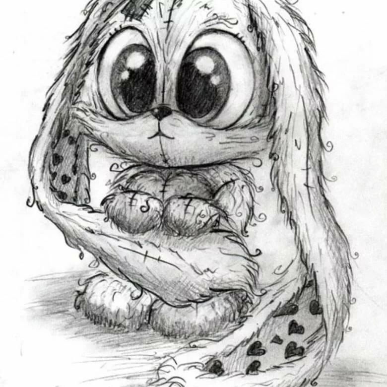 Прикольные рисунки животных ручкой