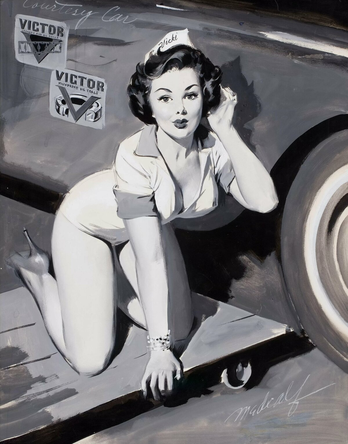 Про среду, картинки девушек 50 х годов