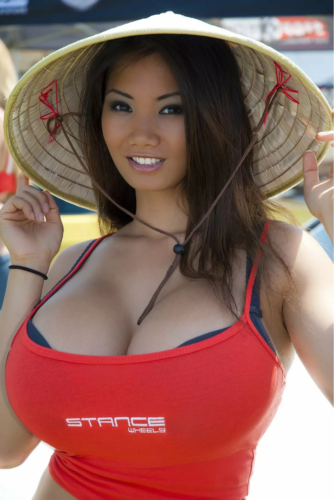 Asian girl with big boob
