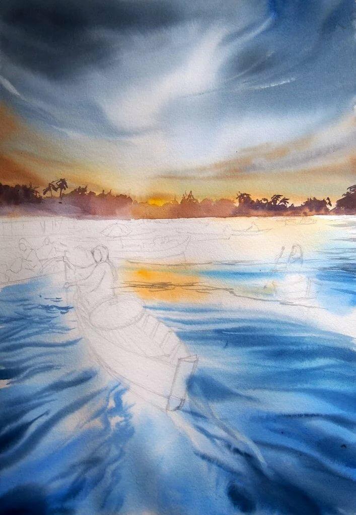 вот рисунки гуашью вода картинки использовали только