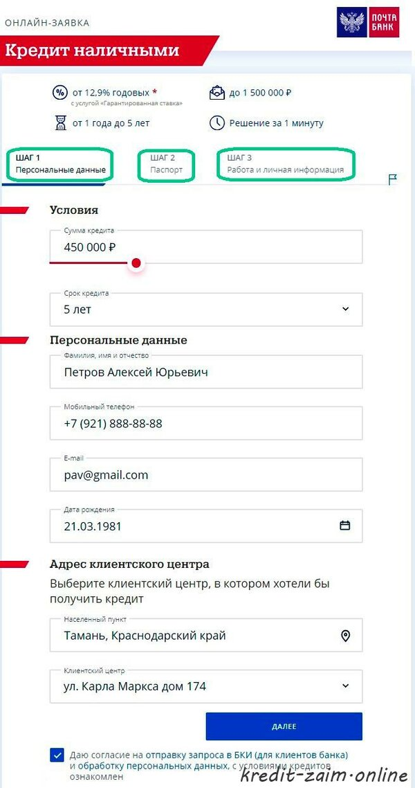 Локо заявка на кредит онлайн во что лучше инвестировать в россии