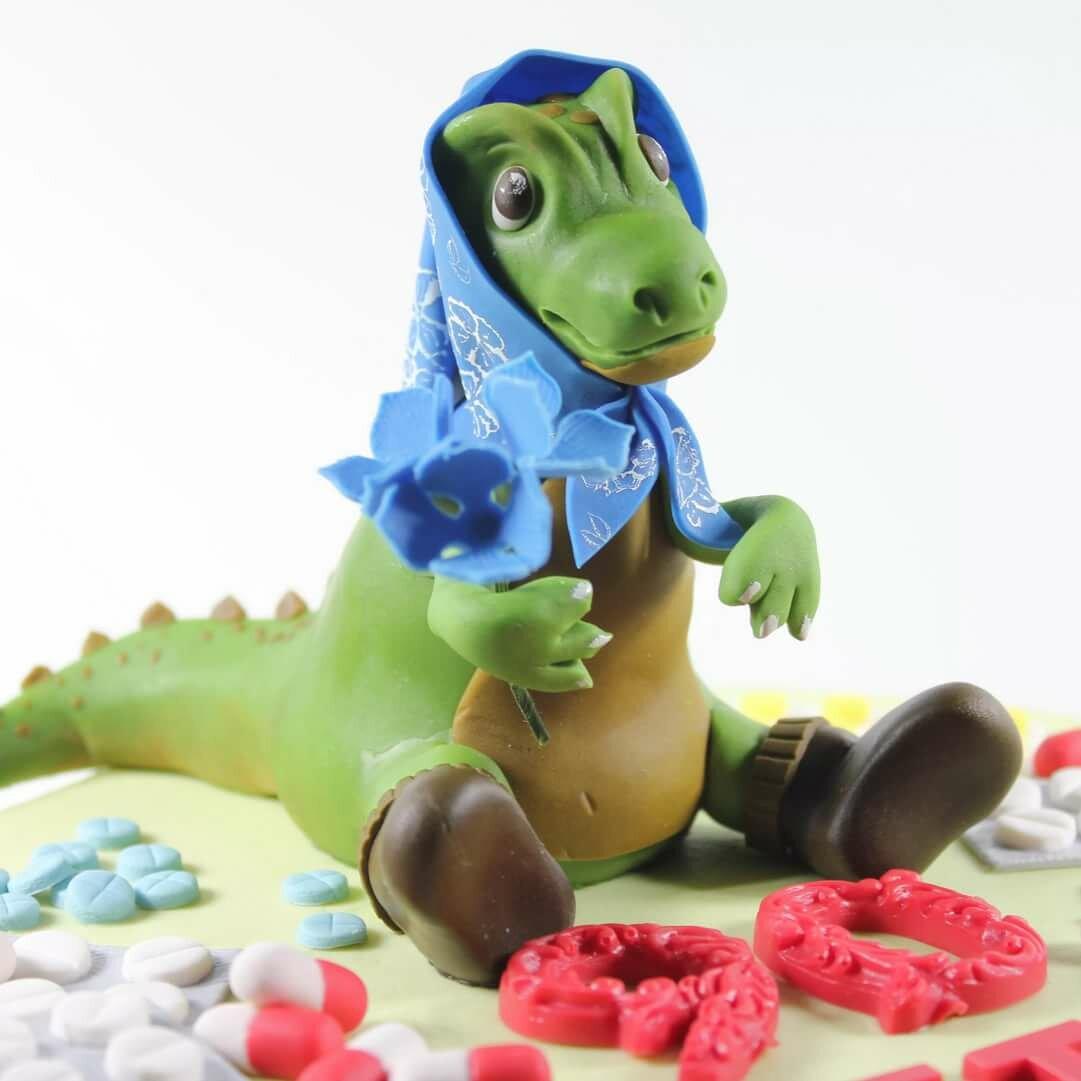 динозавр из мастики картинка глубинным