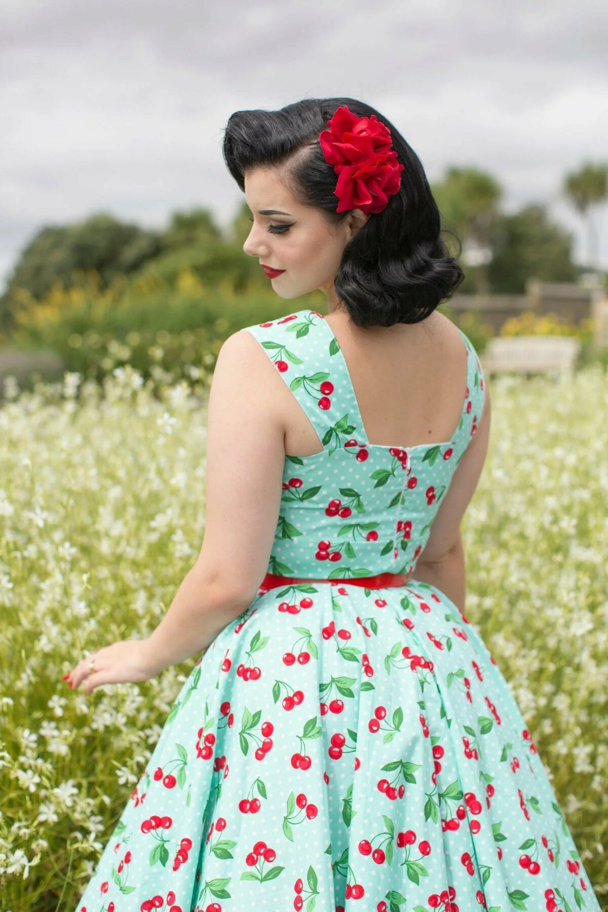 Vintage pin up girl dresses