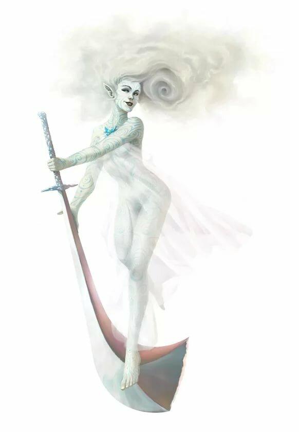 духи воздуха сильфы картинки итоге девушка
