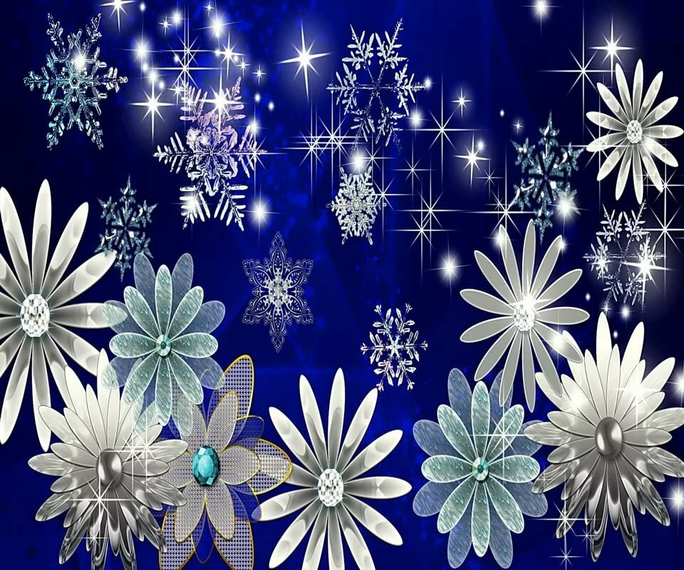 Картинки блестящие снежинки