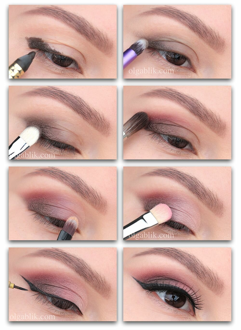 Уроки макияжа на картинках