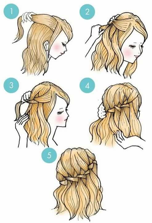 прически для средних волос поэтапно в картинках дворняжки стали