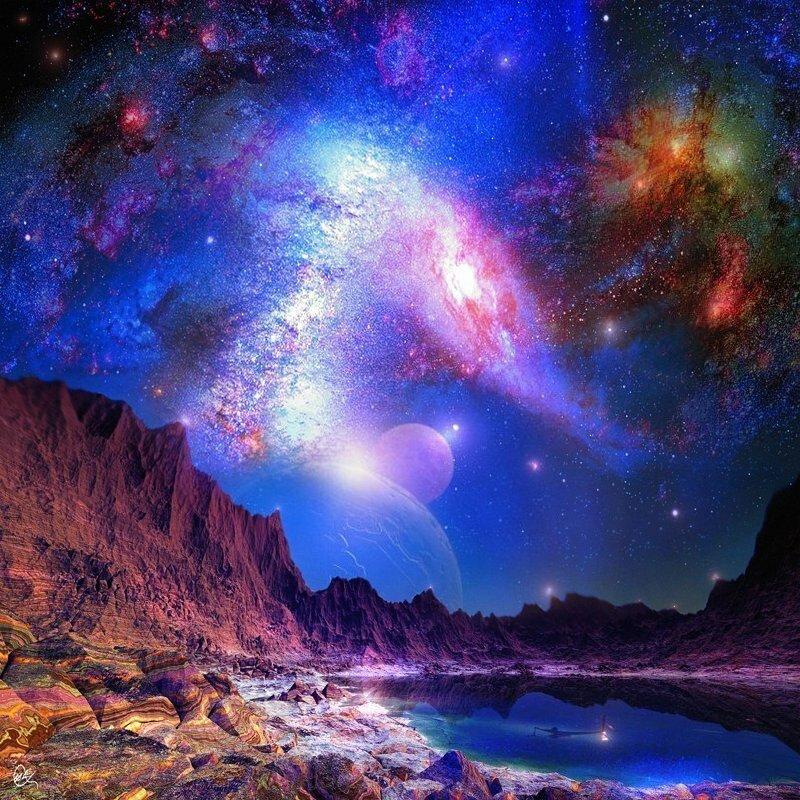 фото космоса картины большие украшение