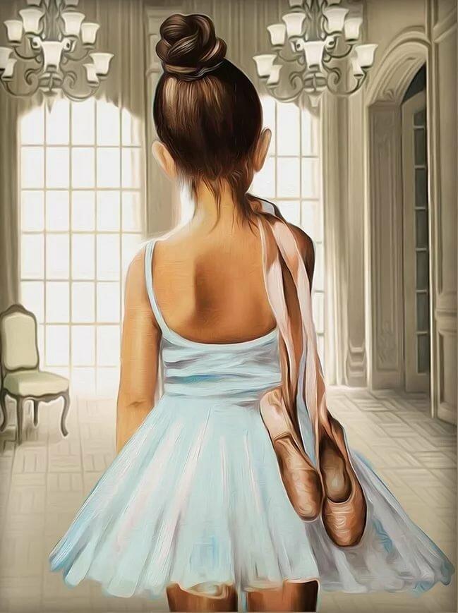Картинки рисованные девушки со спины, гифки для девушки