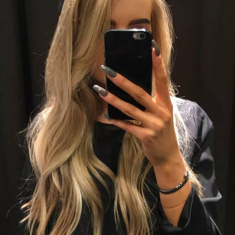 Девушки на аву без лица блондинка