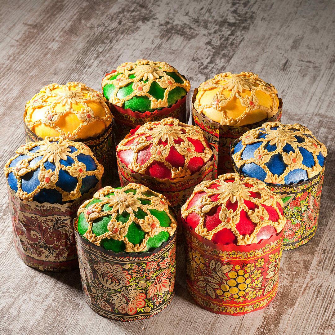 декор пасхальных куличей фото столешнице