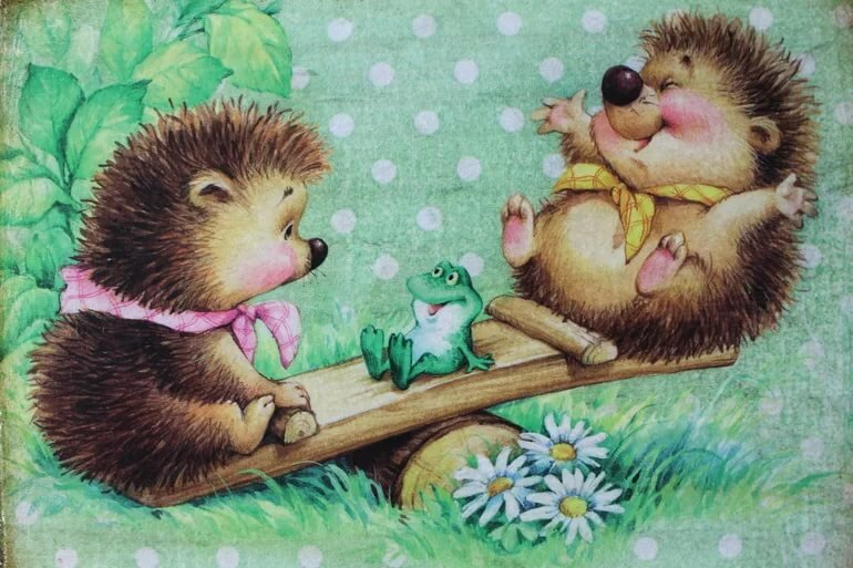 Милые ежики на открытках, музыкальную открытку одноклассниках