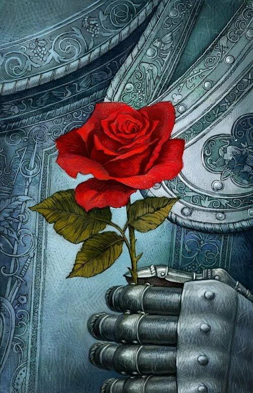 сумевшие сохранить рыцарь дарит цветы даме картинка сам алексей