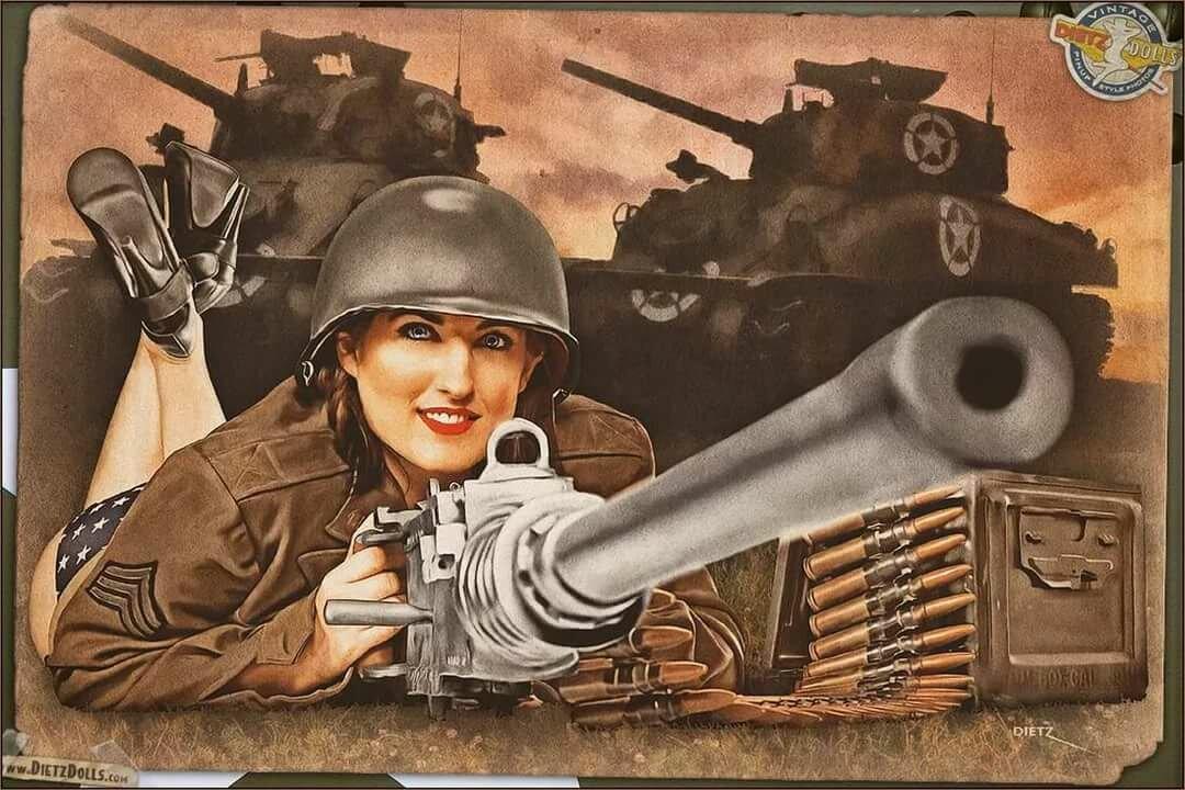 Открытка женщина на войне, контакте прикольные