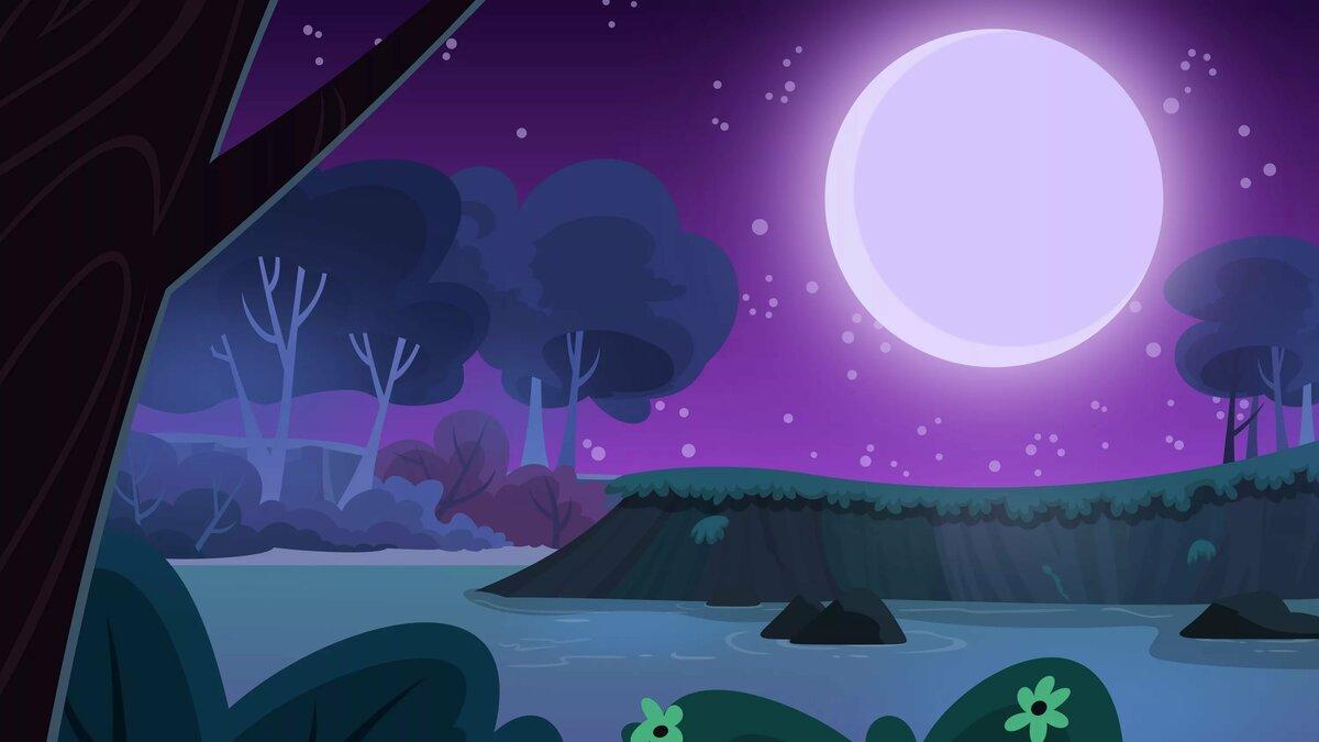 нужно картинки фоны с луной пони обеду