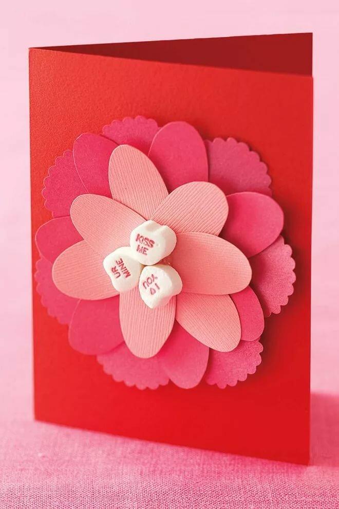 Прикольные фото, самодельная открытка цветок