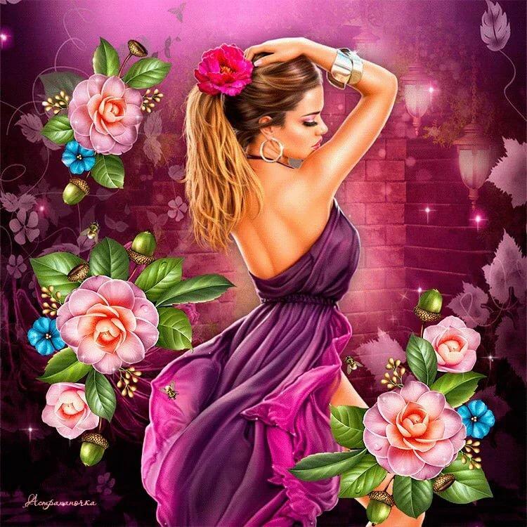 Классные открытки с девушками, картинки любимой ночь