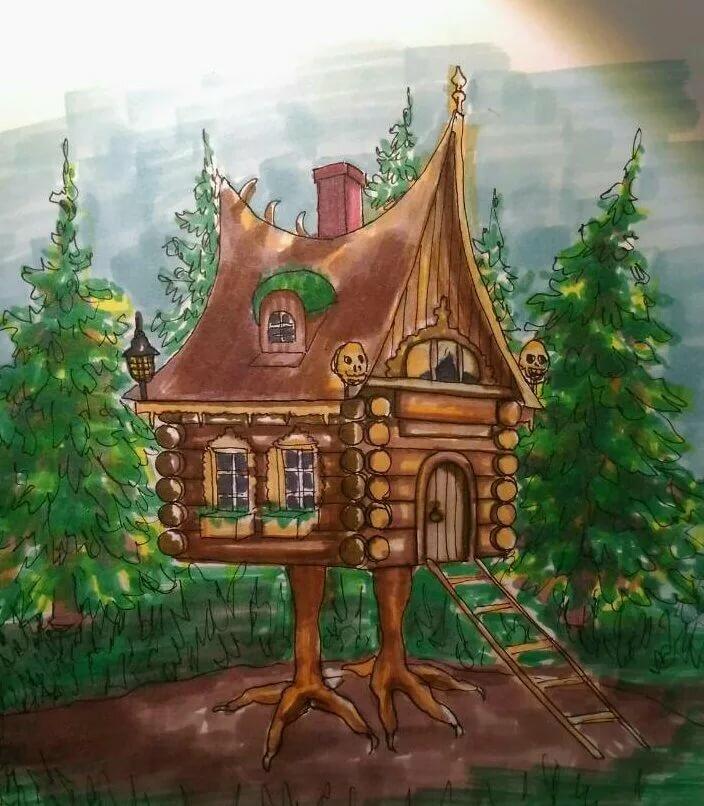 Картинки из сказок избушки