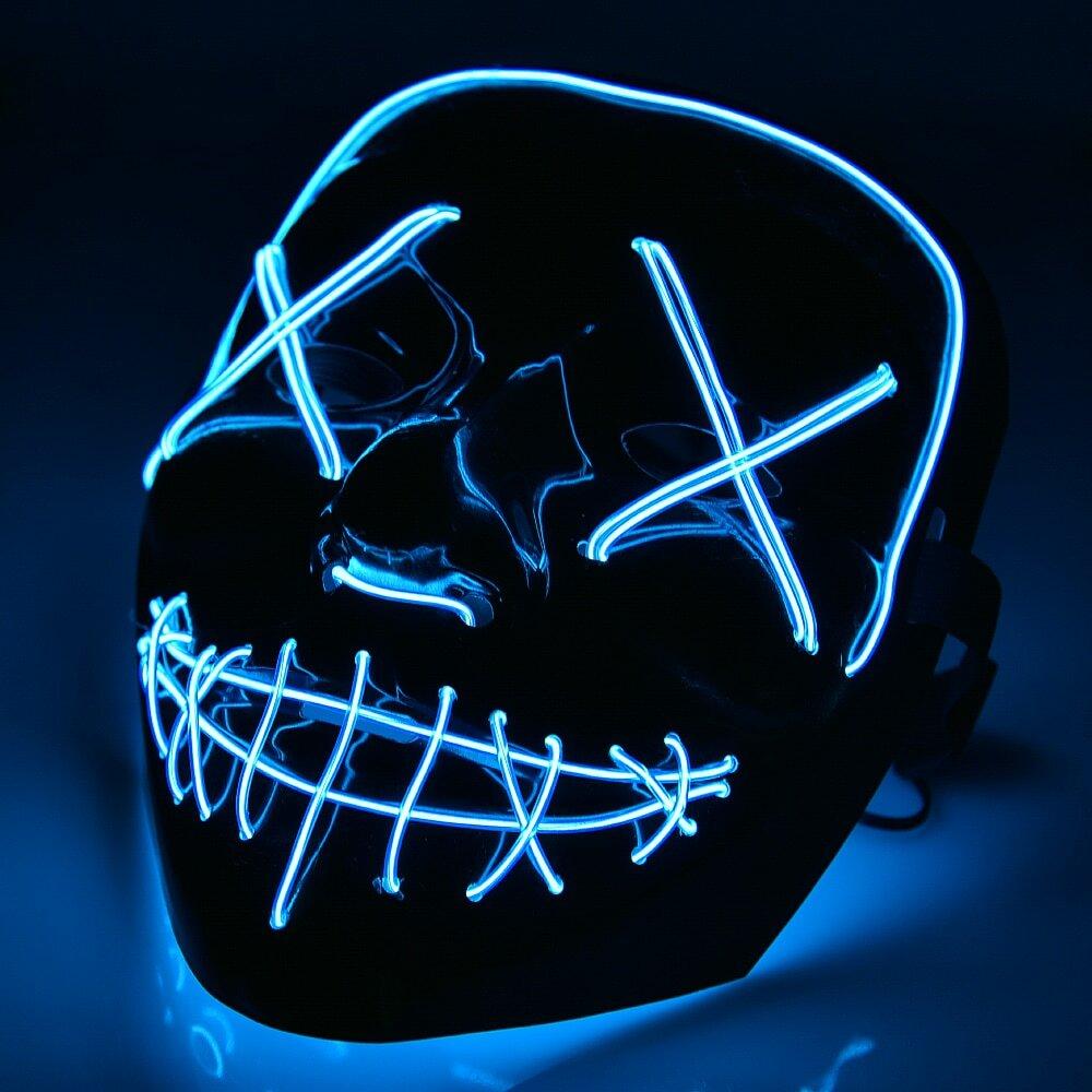 Неоновые маски в Дербенте