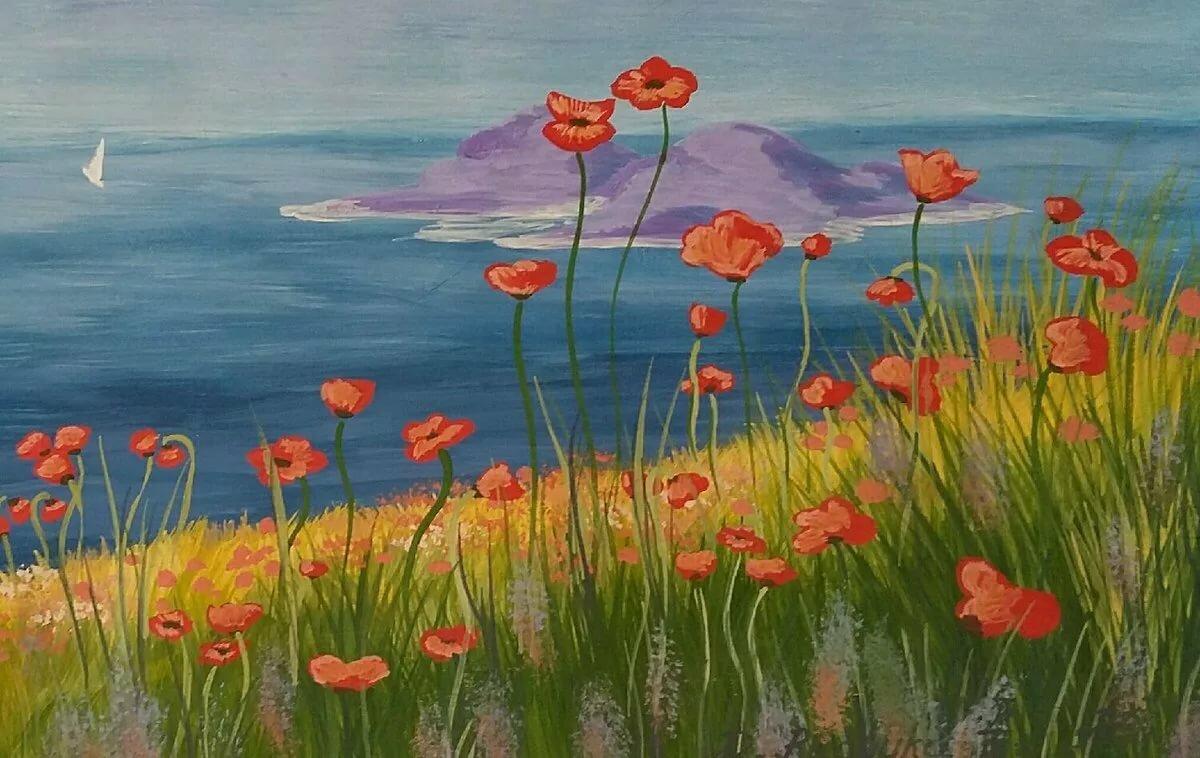 Рисовать красивые картинки красками