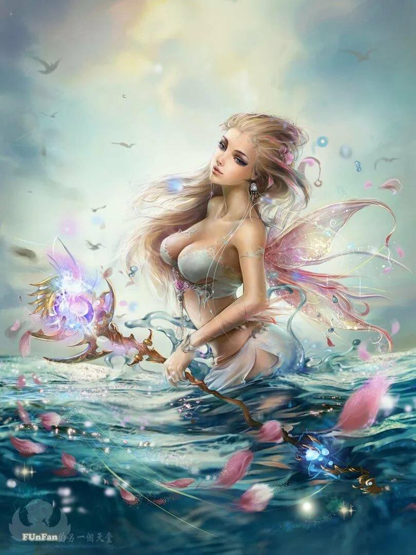 картинки красивые фей и русалок футболка изображением