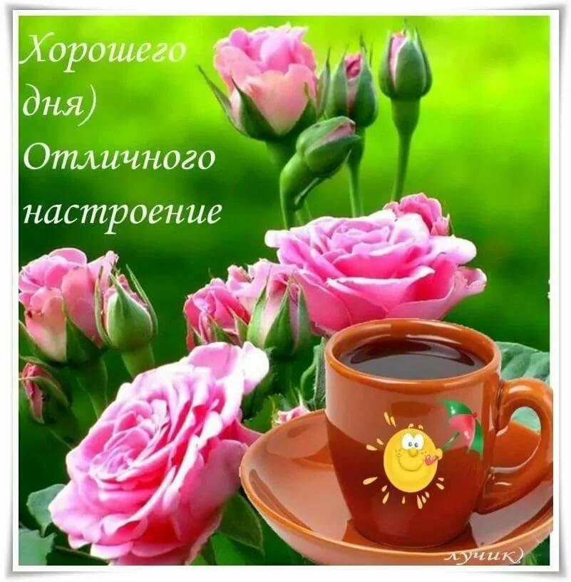 Картинки с пожеланием хорошего дня и настроения