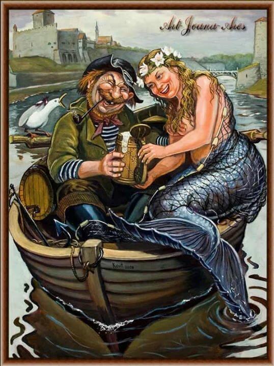Смешные картинки рыбак с русалкой
