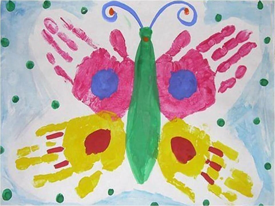 Рисование ладошками для детей 2-3 лет картинки