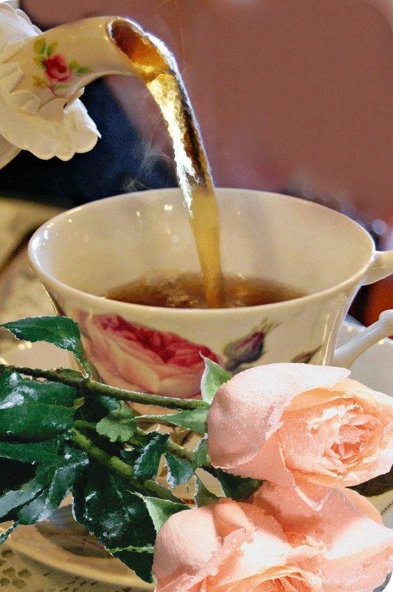 Чай в чашках анимация картинки