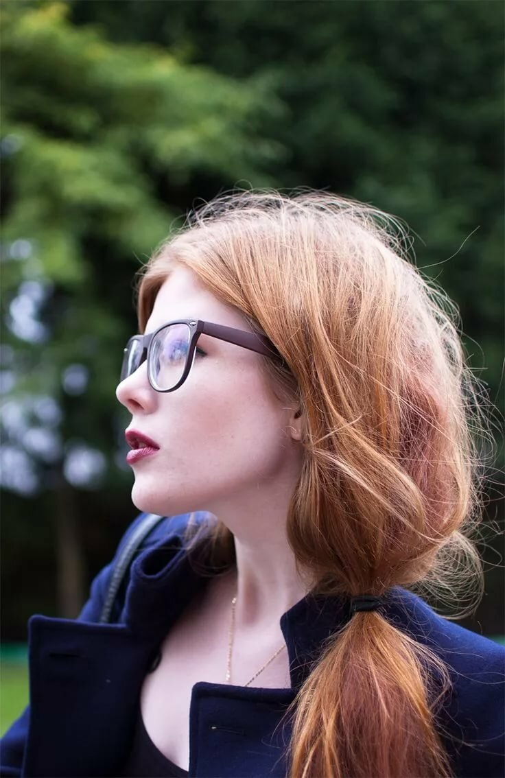 Redhead glasses, girls you suck