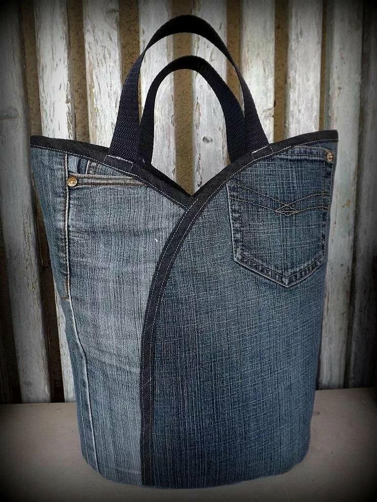 как сшить сумку из джинсовых брюк фото гарантии нет может
