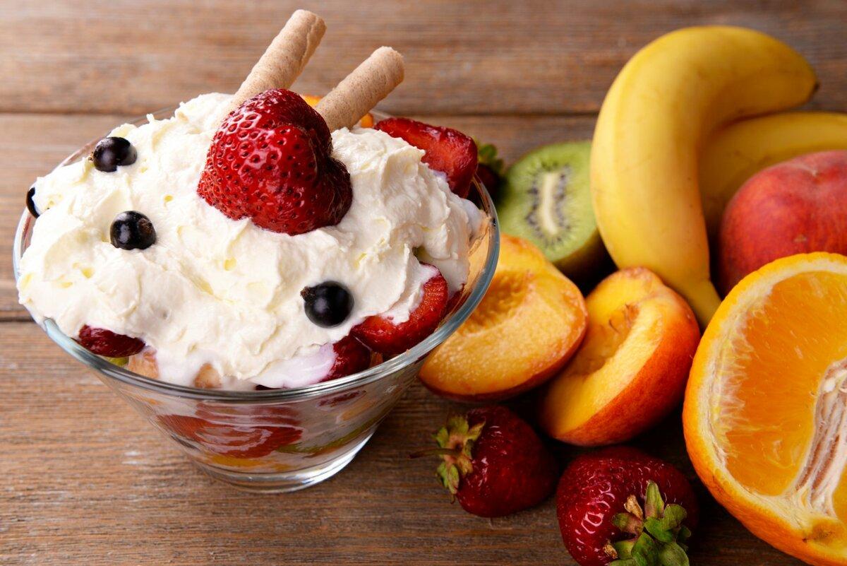 Светлые красивые картинки с фруктами и едой вкусной, пословицами поговорками