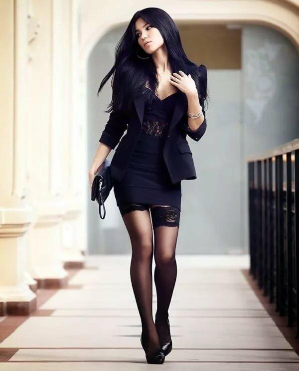 чулки и черная юбка фото прнципе