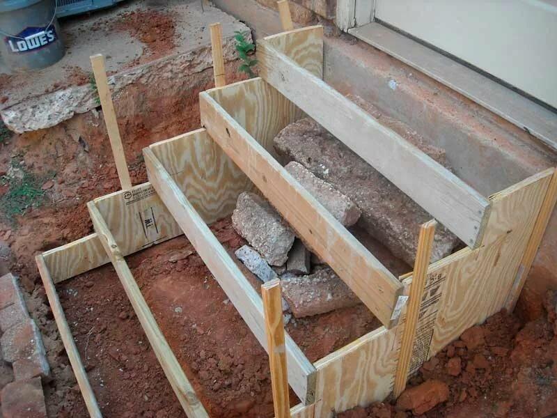 как заливать крыльцо из бетона своими руками