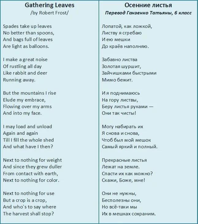 Стихи на американском английском