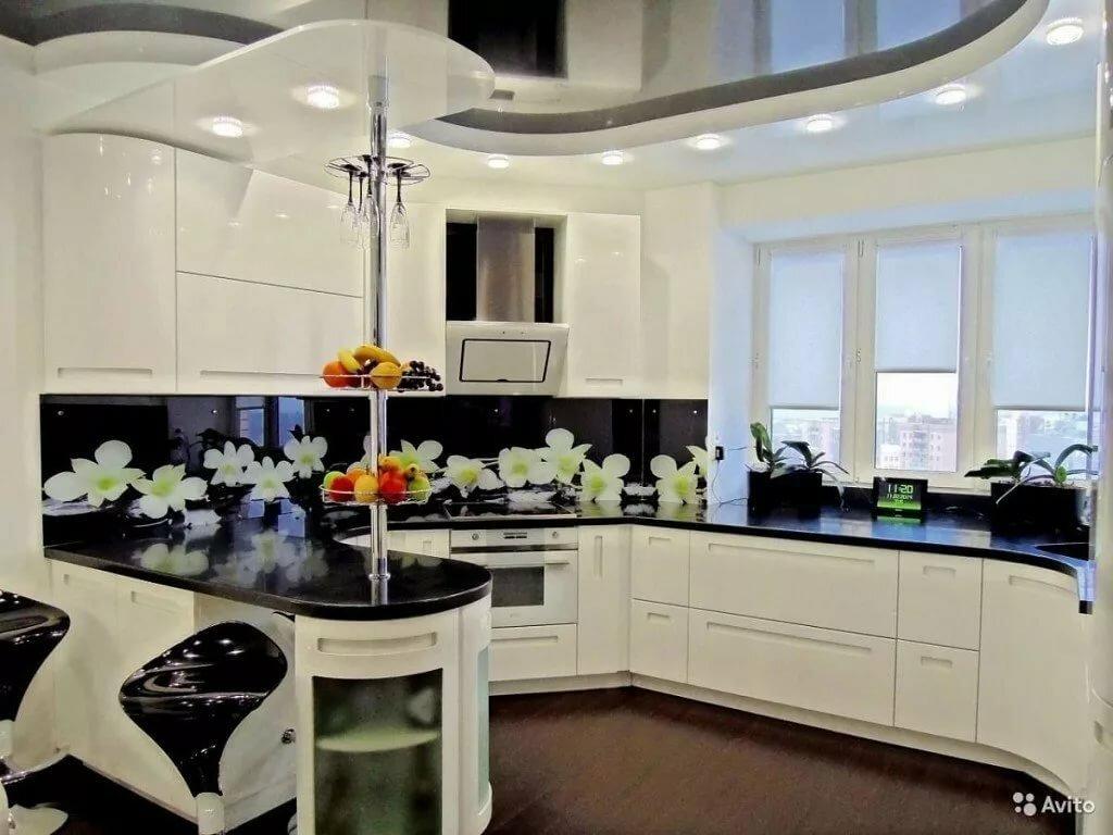 Кухня черная в цветок купить алматы