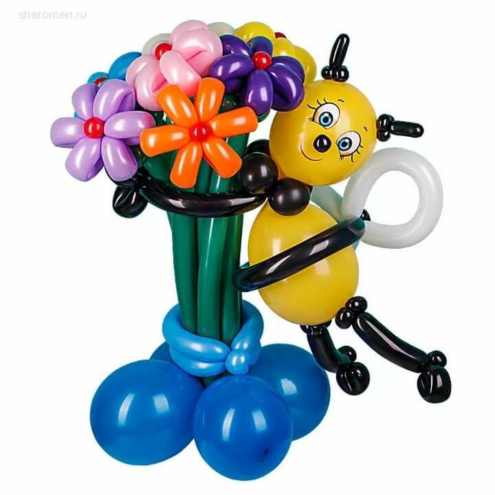 Воздушный шар с корзиной картинка домиком