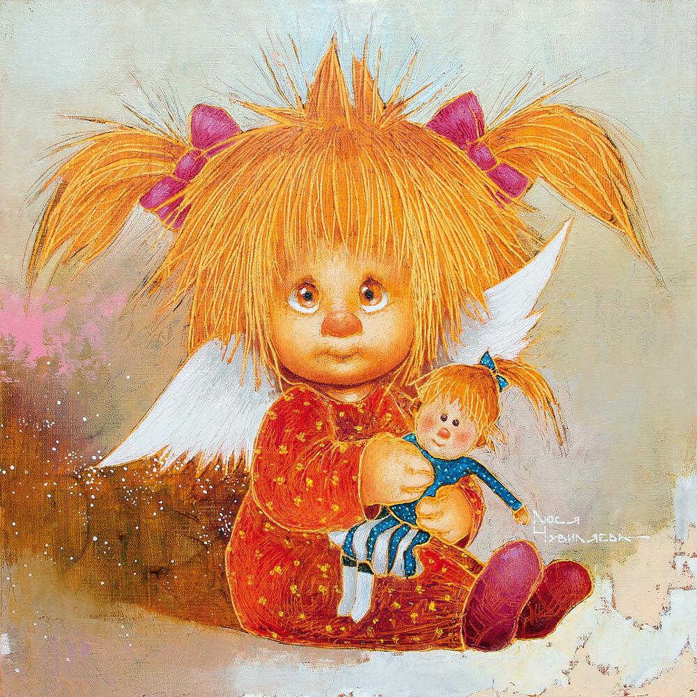 Картинка рыжего ангела девочки