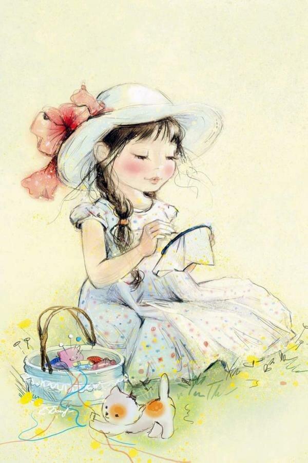 Милые открытки художницы, для любимого