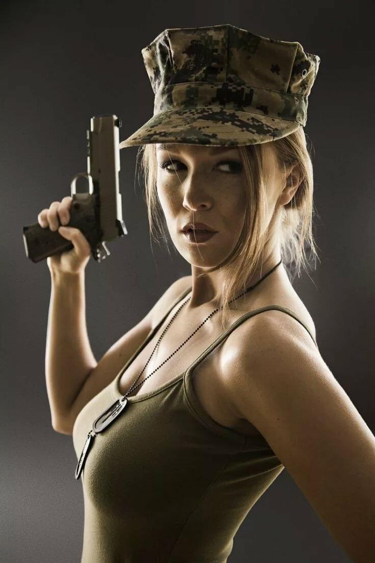 девушки милитари фото ней была